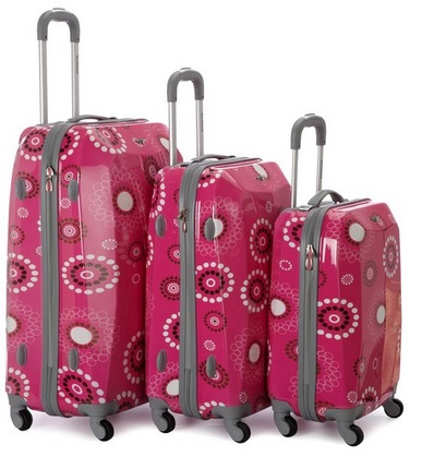 3 Piece PINK luggage set