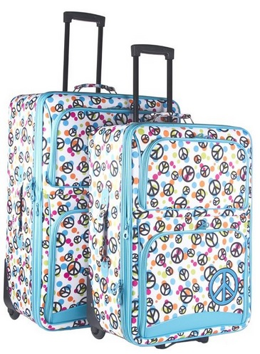 cute peace sign luggage