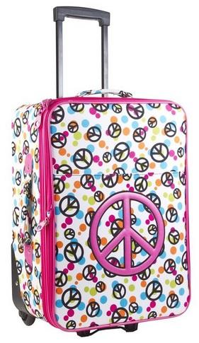 cute peace sign luggage