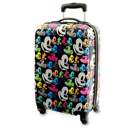Disney Exclusive Mickey Mouse Face Pop Art Travel Rolling Luggage