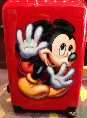 Mickey Mouse Red Hard Shell Large Rolling Suitcase