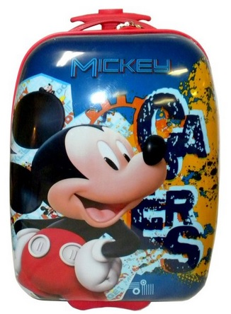 Cute Disney Mickey Mouse Hard Shell Pilot Rolling Suitcase