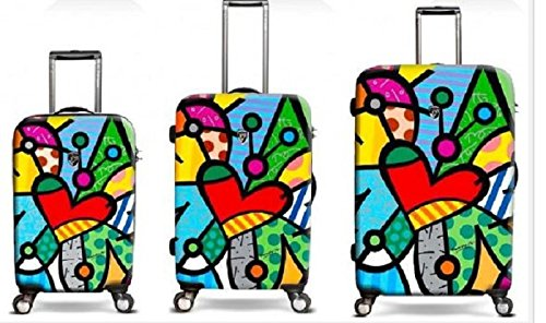 Colorful Heart Luggage