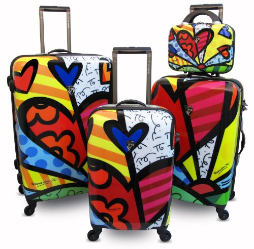 Heys USA Luggage Britto 4 Piece HEARTS Luggage Set
