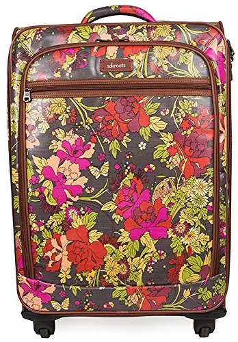 Vintage Style Colorful Floral Suitcase for Sale