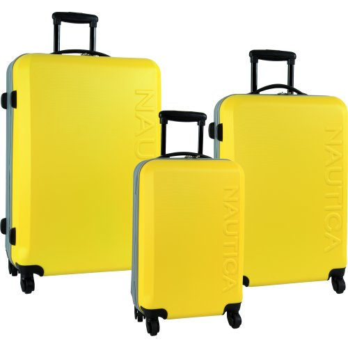 3 Piece Hard Side Bright Yellow Spinner Outer Shell Set