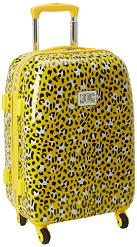 Yellow Leopard Print 20 Inch Hardside Suitcase