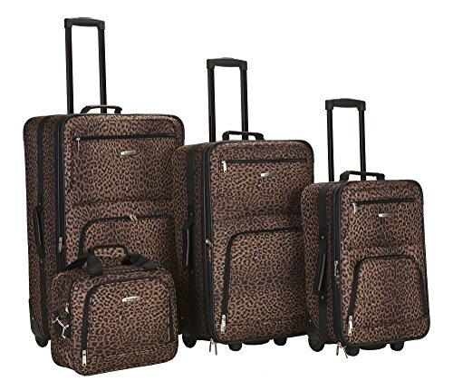 Classic Leopard Print 4 Piece Luggage Set