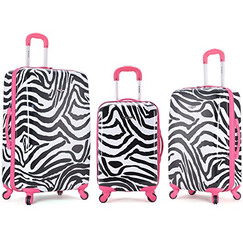 Cute Pink Zebra 3 Piece Upright Set