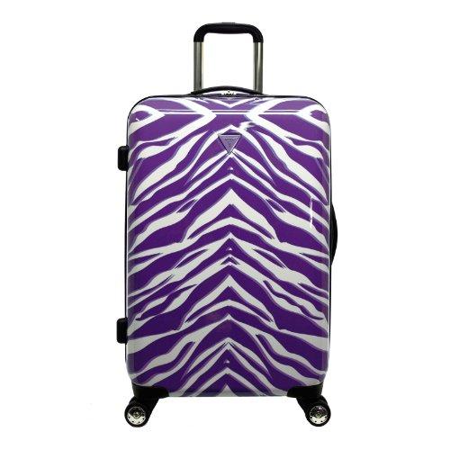 Purple ZEBRA Pattern 28-Inch Hardside 8-Wheel Spinner Upright Suitcase