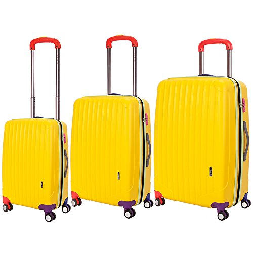 Bright Yellow Luggage Set for Sale