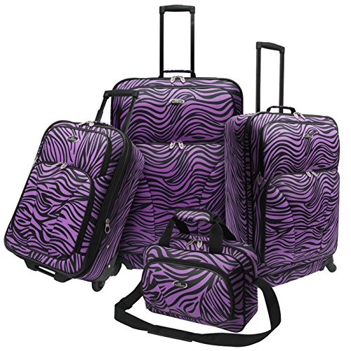Fashion PURPLE Zebra 4 Piece Spinner Set