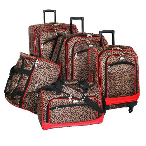 Fun Leopard 5 Piece Spinner Set with Red Trim