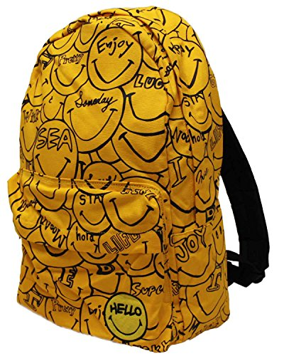 Fun Smiley Faces Print Backpack