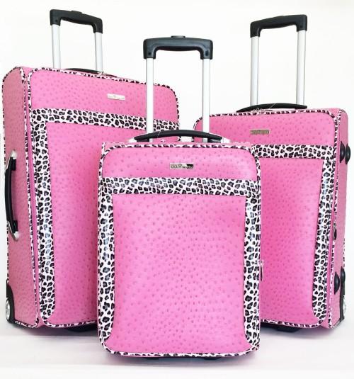ostrich pink luggage set