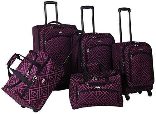 Stylish Black and Purple 5 Piece Spinner Set