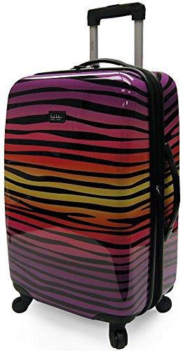 Funky Rainbow Zebra Print Hard Case Suitcase