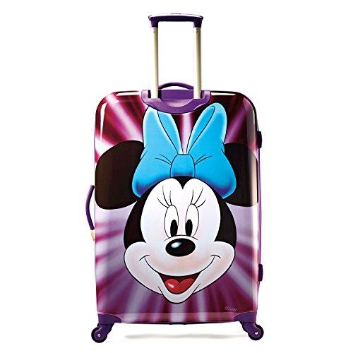 Cute Minnie Mouse Face Purple Suitcase