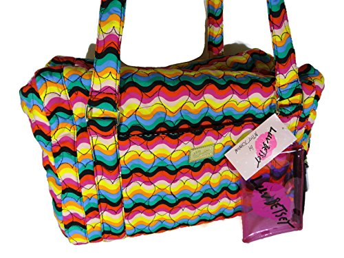 Adorable Rainbow Duffle Bag with Heart Prints