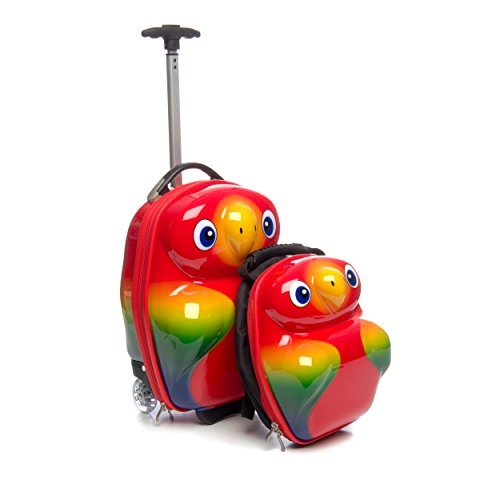 Parrot 2-piece Hardside KidsCarry on Luggage Set