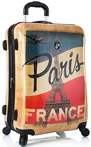 Vintage Style Paris Eiffel Tower Design Suitcase