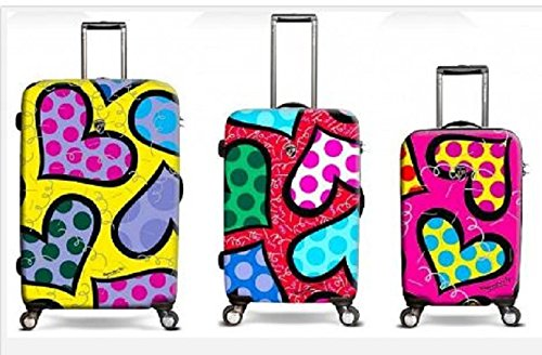 Girly Hearts Luggage Set