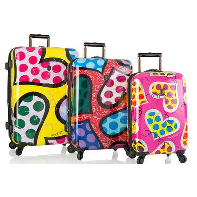 Colorful HEARTS Luggage Set