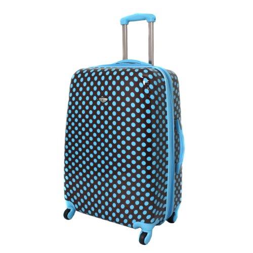 Turquoise Polka Dots Hardside Suitcase