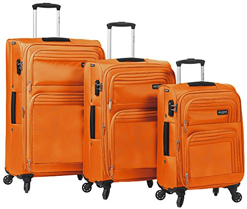 Elegant Orange 3 Piece Spinner Luggage Set