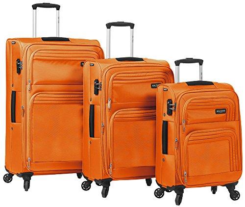 Elegant Orange 3 Piece Spinner Luggage Set