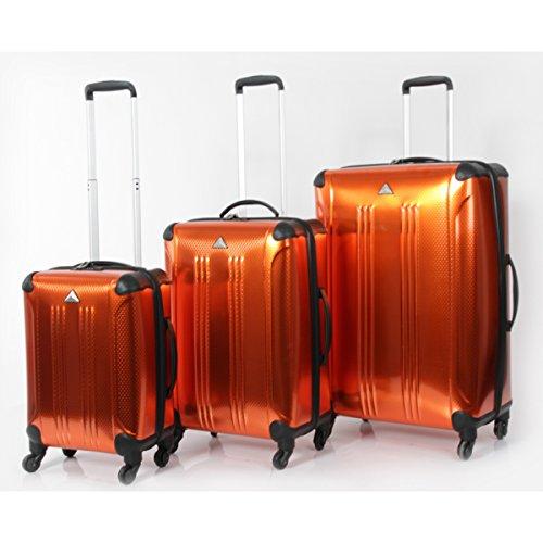 Metallic Orange Hardside Three-Piece Luggage Set