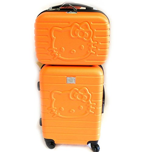 ORANGE Hello Kitty Suitcase and Vanity
