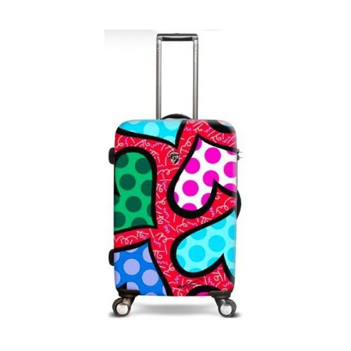 """Britto Hearts Carnival 26"""" Hardsided Spinner Suitcase"""
