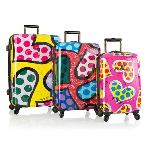 Gorgeous Britto Hearts Carnival Colorful Luggage Set