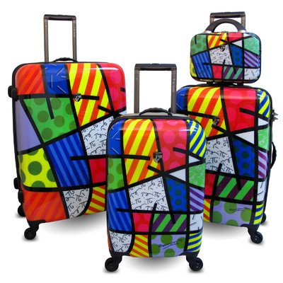Colorful Britto Luggage