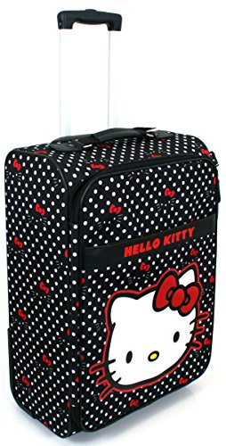 Polka Dotted Hello Kitty Nylon Suitcase