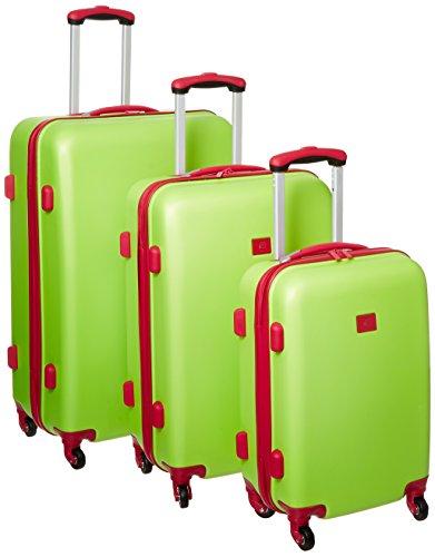 Cute Lime Green Three Piece Hardside Luggage Set