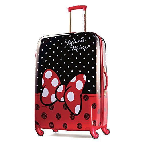 Minnie Mouse Red Bow and Polka Dots Design Hardside Spinner