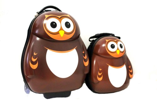 Adorable OWL Suitcases