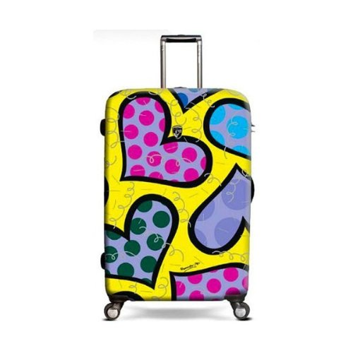"""Britto Hearts Carnival 30"""" Hardsided Spinner Suitcase"""