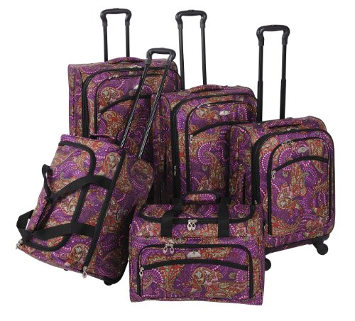 Purple Paisley 5 Piece Set Spinner