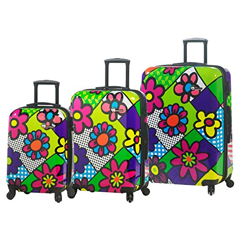 Colorful Flowers 3 Piece Luggage Set