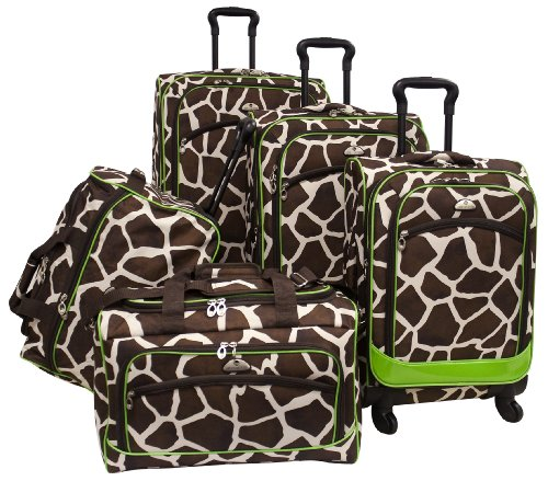 Fun Animal Print 5 Piece Spinner Set