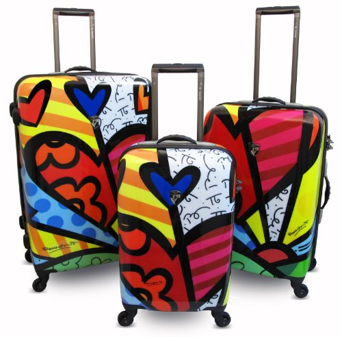 Britto Hearts Luggage Set