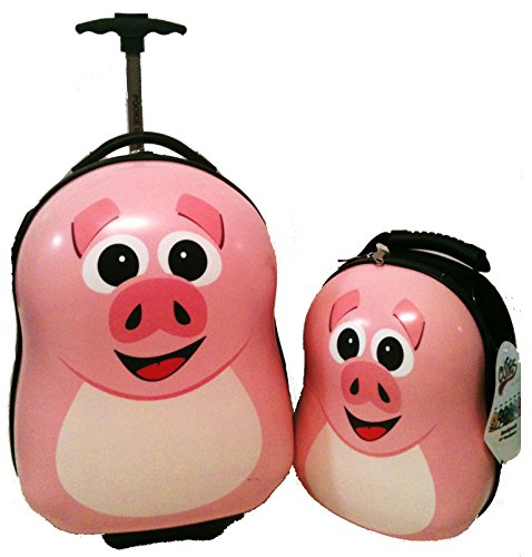 Pink Pigs Suitcases for Kids