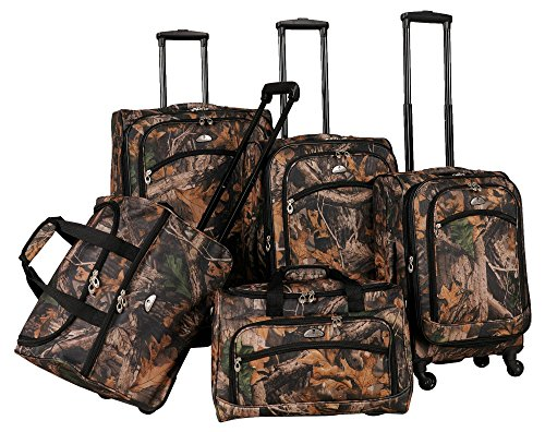 Camo 5-Piece Spinner Luggage Set