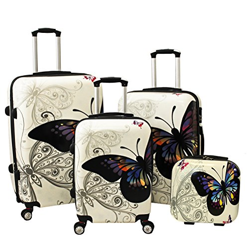 butterfly luggage set