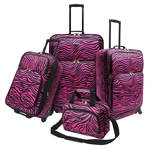 Fashion Pink Zebra 4 Piece Spinner Set