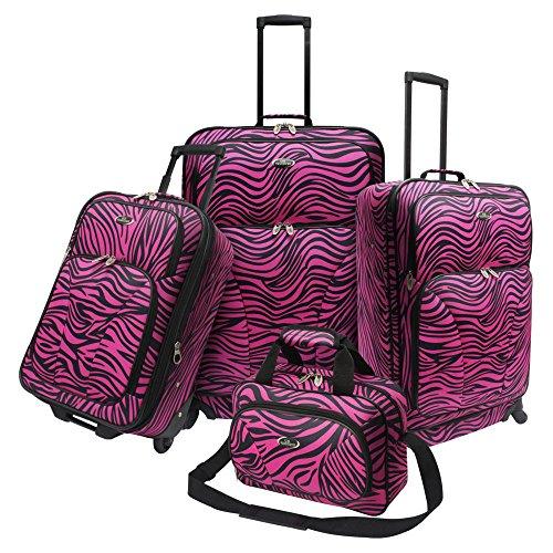 Fashion Pink Zebra 4 Piece Spinner Set