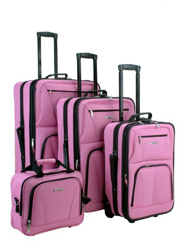 Affordable PINK 4 Piece Luggage Set